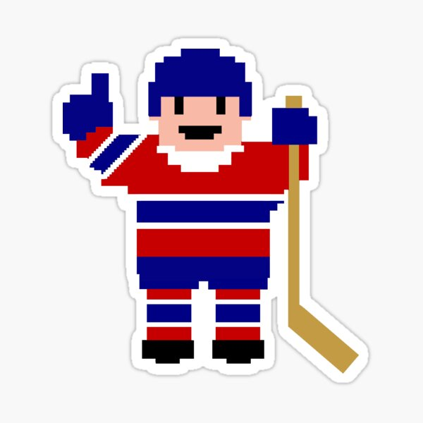 Montreal Hockey Player Sticker