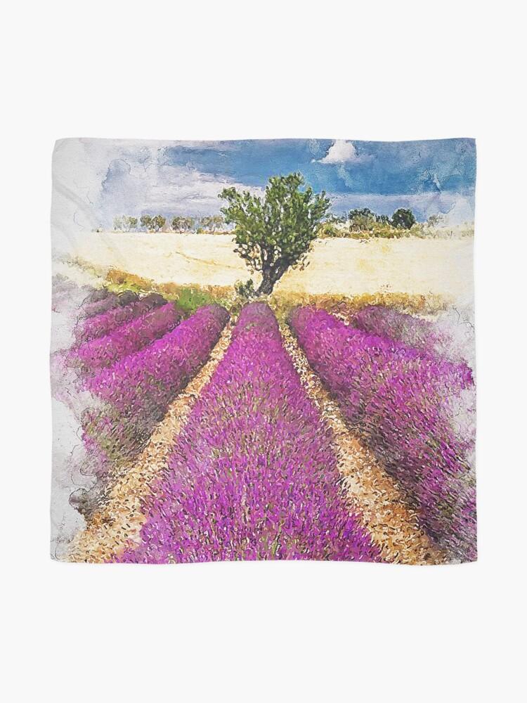 Alternate view of Lavender fields Scarf