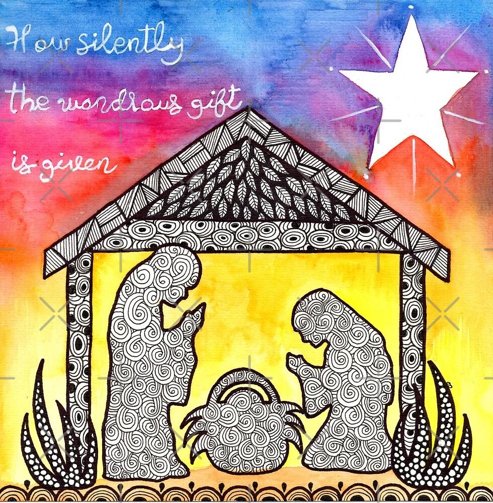 Watercolor Doodle   Nativity Scene by coloringiship