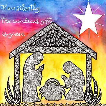 Watercolor Doodle Art | Nativity Scene by coloringiship