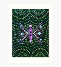 Abstract Dot Painting TRANSFORM INTO YOU by Dutch Artist Tessa Smits Art Print