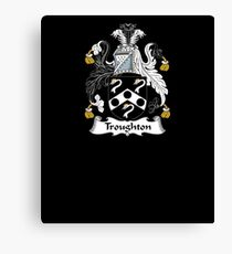 Troughton Coat of Arms - Family Crest Shirt Canvas Print