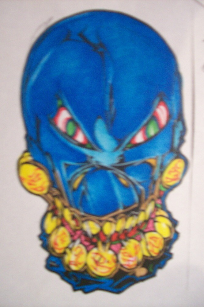 the blue skull.001. by Alabamaenoch