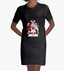 Tudor Coat of Arms - Family Crest Shirt Graphic T-Shirt Dress