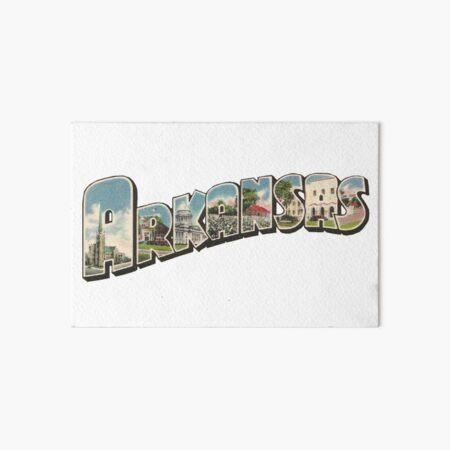 Arkansas Vintage Big Letter Art Board Print