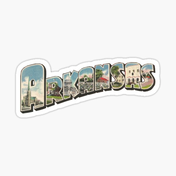Arkansas Vintage Big Letter Sticker