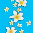 Plumeria Blossoms by Bonnie M. Follett