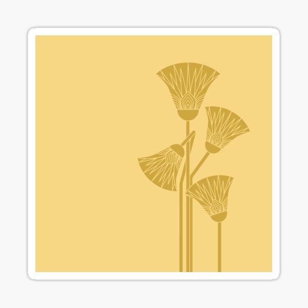 Alter ägyptischer Lotos - zwei Farben Sticker