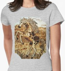 leaping mustang Women's Fitted T-Shirt