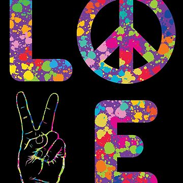 Peace and Love - Retro - Kindness 60s 70s by ingeniusproduct
