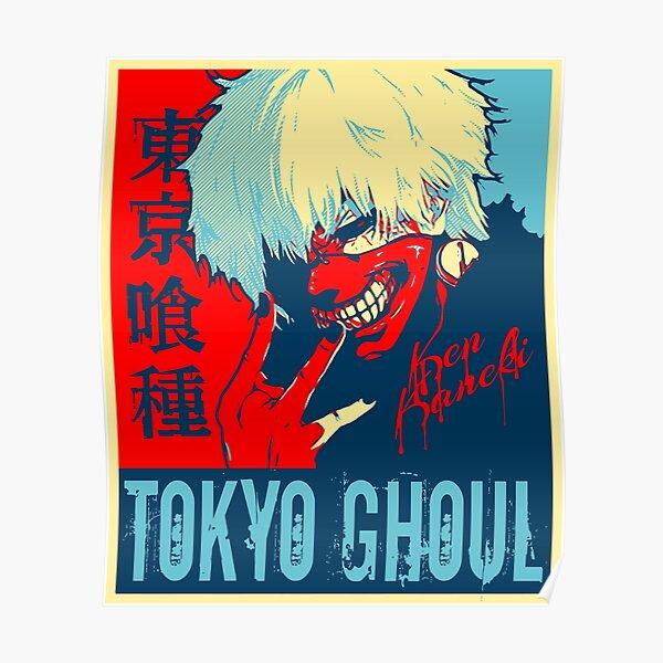 son nom dégoulinant et les mots Tokyo Ghoul en kanji et en anglais. Poster