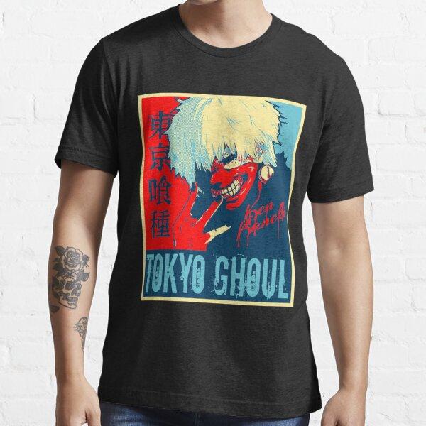 su nombre goteaba y las palabras Tokyo Ghoul en kanji e inglés. Camiseta esencial