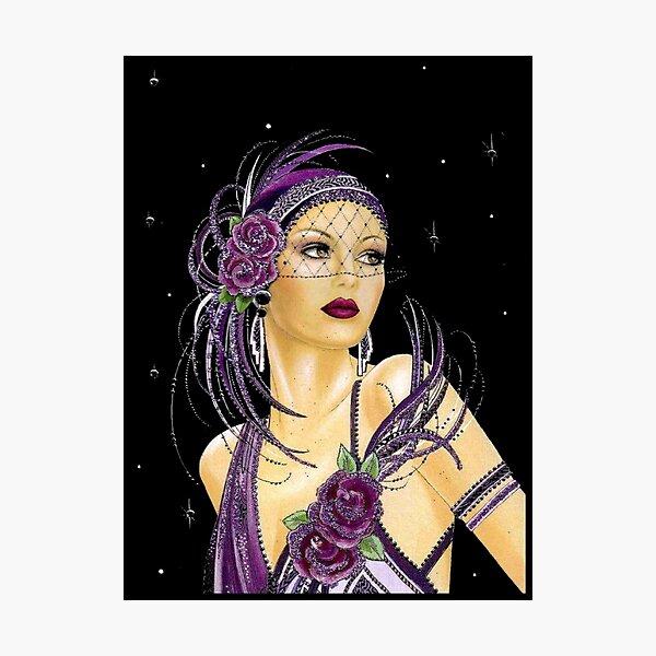 FLAPPER : Vintage 1930 Art Deco Print Photographic Print