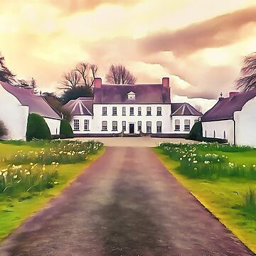 Springhill house, Moneymore, Ireland. (Painting.) by cmphotographs