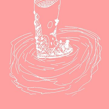Muddy Boots Ink Design (white and pink) by MacSquiddles