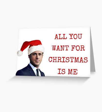 Ryan Gosling, todo lo que quieras para Navidad, regalos, regalos, paquetes de pegatinas, buen rollo, tarjetas de felicitación Meme, tazas navideñas frescas Tarjeta de felicitación