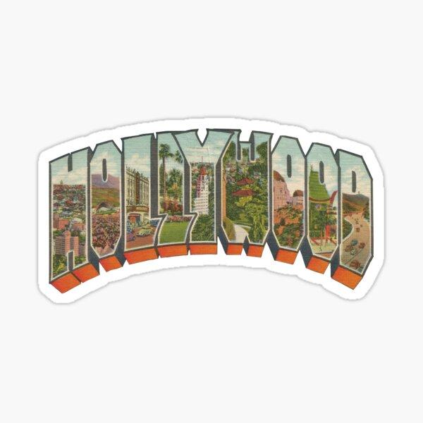 Hollywood Vintage Big Letter Glossy Sticker