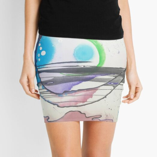 Luna Sea by Kristen Brown Mini Skirt