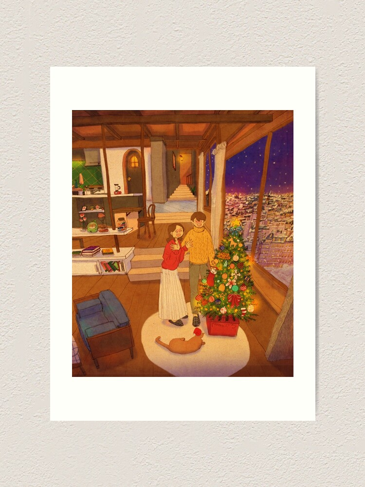 Alternate view of A Christmas tree Art Print