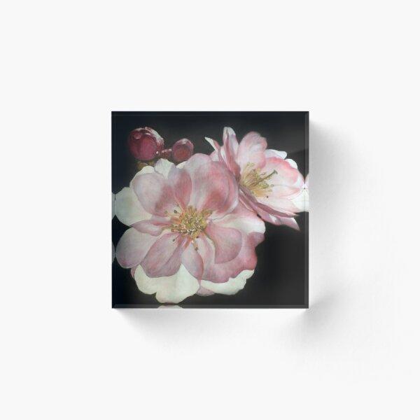 Romantic Roses Acrylic Block