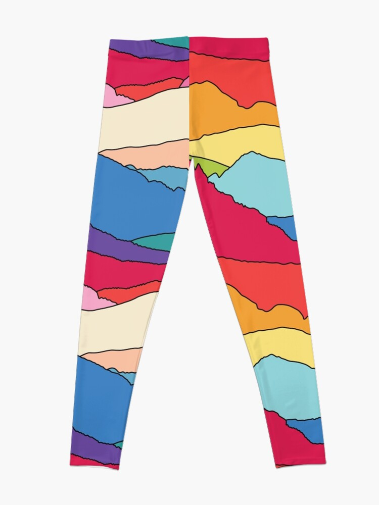 Alternative Ansicht von Regenbogenberge von Elebea Leggings