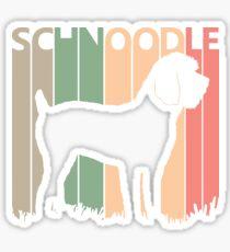 Schnoodle Dog Silhouette Sticker