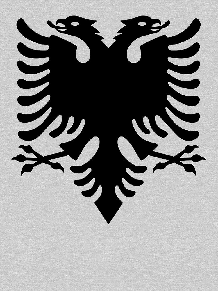 ALBANIA. Black Eagle on Red, Albanian Flag, Flag of Albania, Tale of the Eagle. by TOMSREDBUBBLE