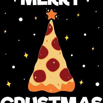 Merry Christmas Tree Pizza Pepperoni Chef Christmas Pajama by ZNOVANNA