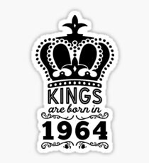 Birthday Boy Shirt - Kings Are Born In 1964 Sticker