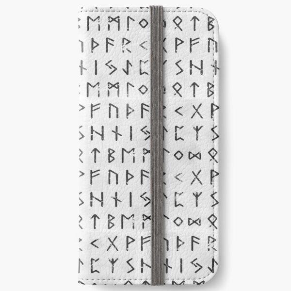 Futhark full runic White version iPhone Wallet