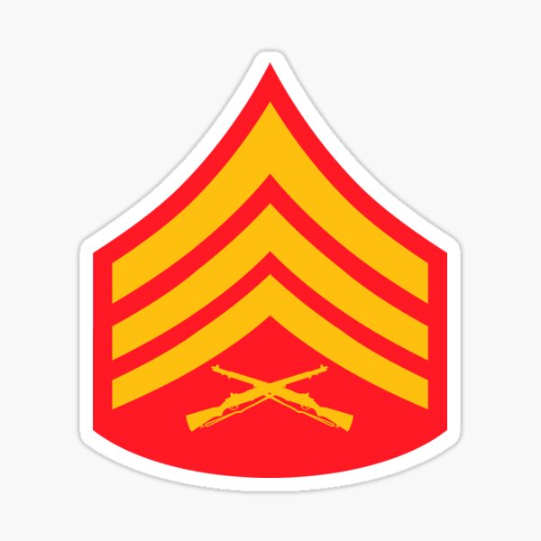 USMC INSIGNIA - SERGENT Sticker