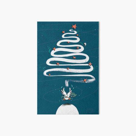 Friedenstaube Weihnachten – dunkel Galeriedruck