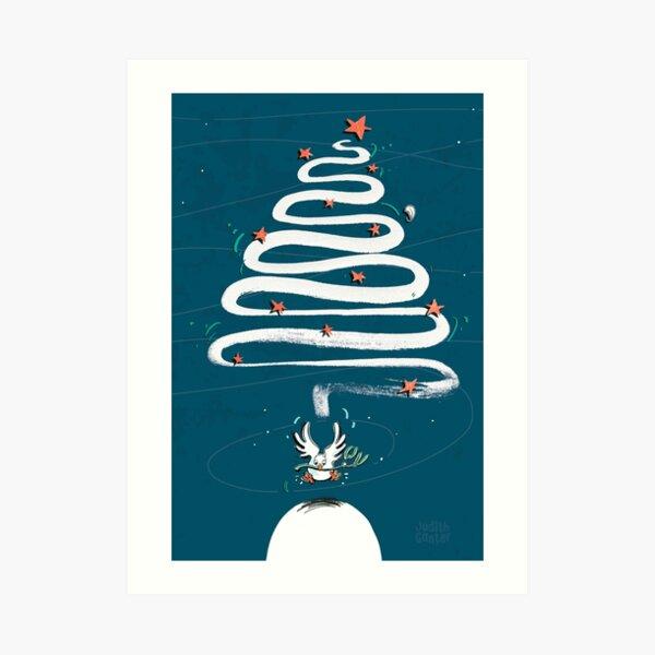 Friedenstaube Weihnachten – dunkel Kunstdruck