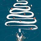 Friedenstaube Weihnachten – dunkel von Judith Ganter