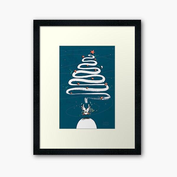 Friedenstaube Weihnachten – dunkel Gerahmter Kunstdruck