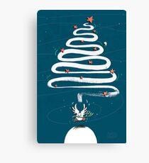 Friedenstaube Weihnachten – dunkel Leinwanddruck