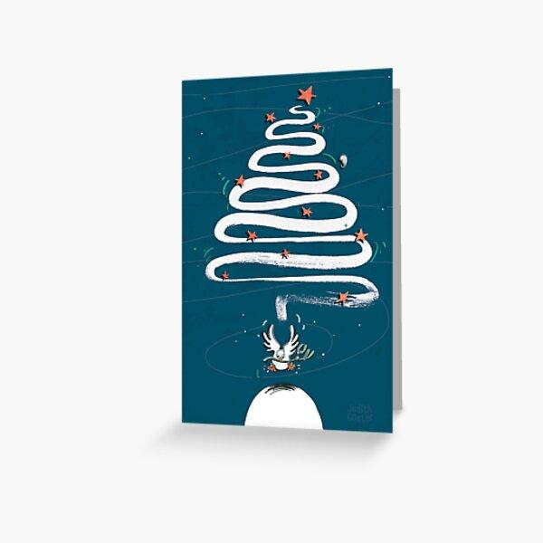 Friedenstaube Weihnachten – dunkel Grußkarte