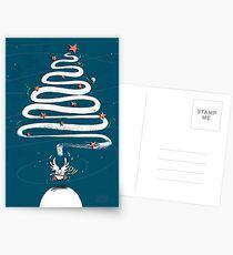 Friedenstaube Weihnachten – dunkel Postkarten