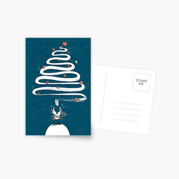 Friedenstaube Weihnachten – dunkel Postkarte