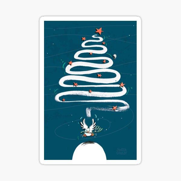 Friedenstaube Weihnachten – dunkel Sticker