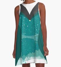 Schneelandschaft Festlich Feminines Design für den Winter A-Linien Kleid