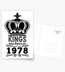 Birthday Boy Shirt - Kings Are Born In 1978 Postcards