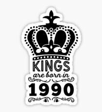 Birthday Boy Shirt - Kings Are Born In 1990 Sticker