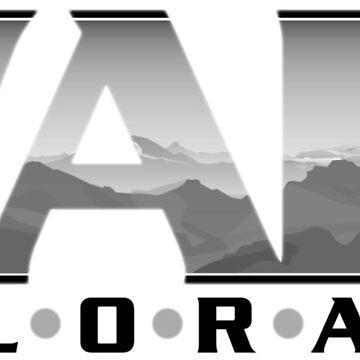 Vail Colorado retro graphic design by JenStedmansArt