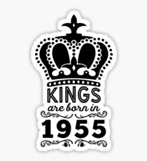 Birthday Boy Shirt - Kings Are Born In 1955 Sticker