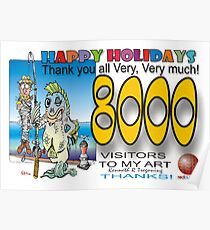 8000 Thank you  Poster