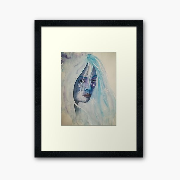 Lady of the Ice Framed Art Print