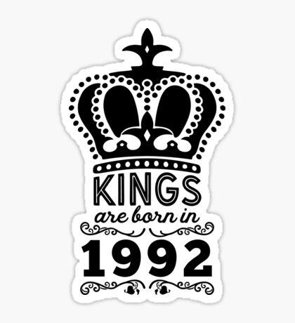 Birthday Boy Shirt - Kings Are Born In 1992 Sticker