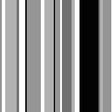 Slimming greyscale stripes  by JenStedmansArt