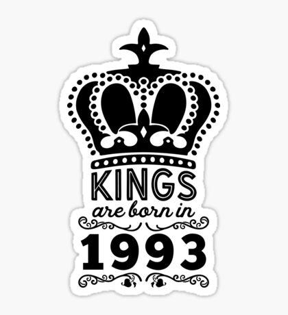 Birthday Boy Shirt - Kings Are Born In 1993 Sticker